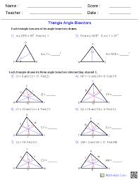Geometry Worksheets | Triangle Worksheets