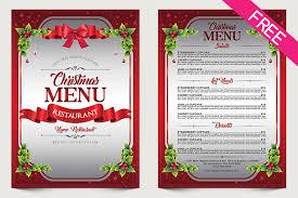 Free Christmas Menu Psd Template Free Psd Templates