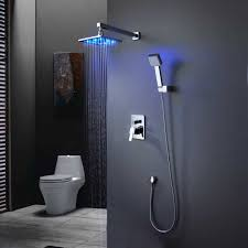 contemporary shower heads. Contemporary Bathroom With LED Shower Head Heads