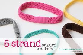 re purposing tshirts into 5 strand braided headbands make it and love it