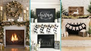 DIY Shabby chic style Christmas Mantle decor Ideas | Christmas Fireplace  decor | Flamingo Mango|
