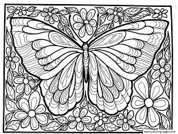 Coloring Pages Print Adult Difficult Big Butterfly Coloring Pages