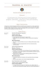 Business Development Specialist Resume samples