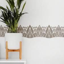 wall border stencils reusable border