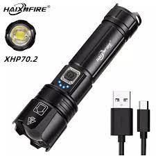 HAIXNFIRE H38 Đèn Xhp70.2 Hầu Hết Đèn Pin Công Suất Lớn Không Thấm Nước  Kính Thiên Văn Zoom Đèn Lồng Cắm Trại