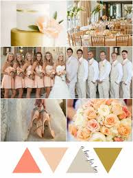 peach wedding colors. Peach Gold and Ivory Elegant Wedding Colors Wedding Colour Scheme
