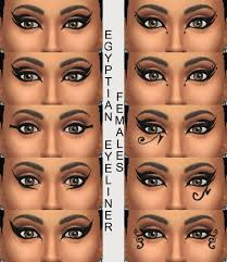 cleopatra eye makeup 10 egyptian eyeliners by simmiller at mod the sims via sims 4 updates
