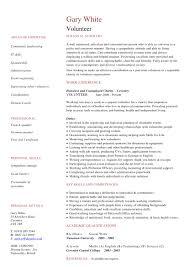 Volunteer Work Resume Examples Volunteer Cv Examples Standard Work On Resume Samples