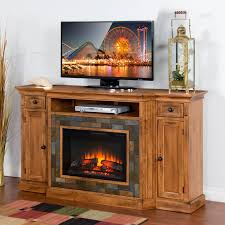 electric fireplace tv console com