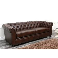 Italian Leather Living Room Furniture Abbyson Tuscan Chesterfield Brown Leather Sofa By Abbyson