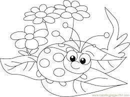 Small Picture ladybug Between leafs Coloring Page Free ladybugs Coloring Pages