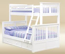 Boston Twin over Full Bunk Bed White