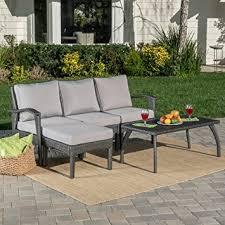 Amazon Maui Patio Furniture 5 Piece L Shaped Outdoor Wicker