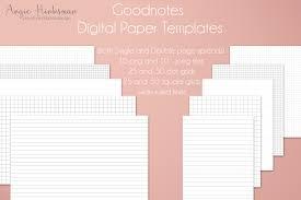 Planner Paper Template Bullet Journal Digital Planner Paper Templates For Goodnotes Etsy
