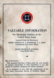 Information For Discharged Soldiers Of The United States Army Gg