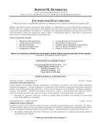 Electrician Apprentice Resume Samples Construction Electrician Sample Resume Podarki Co