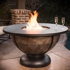 cc s onyx bowl 48 inch round propane gas fire table onyx finish