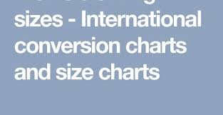 Maless Clothes Sizes Worldwide Conversion Charts And