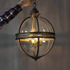 glass light shade vintage loft glass globe pendant light iron round ball lamp shade hanging lamp glass light shade