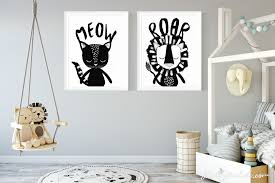 monochrome cat nursery inspiration