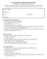 Sample Orientation Checklist For New Employee Sample New Hire Orientation Checklist Template Example Onboarding