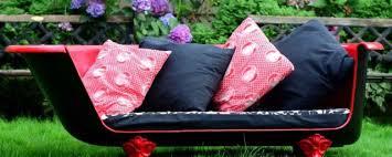 make an upcycled vintage cast iron claw foot bathtub sofa