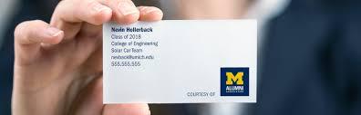 Free Business Cards Alumni Association Of The University Of Michigan