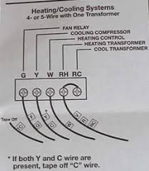replace a regular thermostat an electronic setback thermostat there are several different wiring schemes out there and i m not familiar all of them this 4 wire scheme for heating and air conditioning is quite