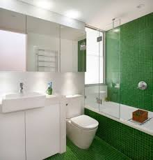 captivating green bathroom. Moss Green Wall Tile Ideas For Small Bathrooms With Glass Shower Enclosure And Sparkling Mounted LED Lights Captivating Bathroom