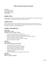 Office Assistant Resume Office Assistant Resume Skills Admin Sample System Administrative 20