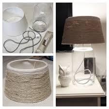 Diy Lamp Glazen Vaas Witte Lampenkap Jutte Touw Stroomkabel