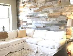 wood plank accent wall removable planks rustic faux paneling wal