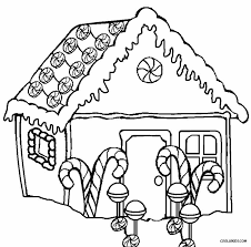 Small Picture Download Gingerbread House Coloring Page