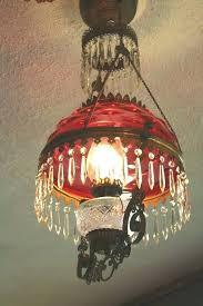 victorian hanging lamp cranberry hobnail shade antique hanging oil lamp chandelier victorian hanging kerosene lamp