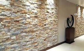 gold stacking panel veneer used on walls of inn hotel in indoor faux stone wall panels