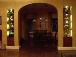 Lighted Glass Shelves Surround Archway using LED's ...