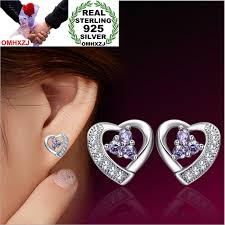 <b>OMHXZJ Wholesale Fashion</b> jewelry beautiful girl purple love heart ...