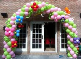 Balloon Decoration Outside a Party