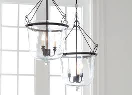 glass cloche chandelier