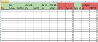 inventory spreadsheet with pictures ebay inventory spreadsheet by karen locker that kat simpson