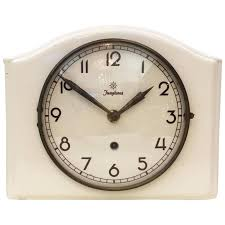 mid century ceramic wall clock by junghans for