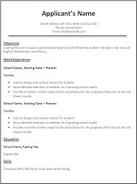 Sample Resume For Teacher Resume Template Directory