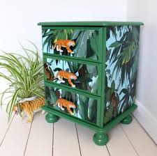 Jungle themed furniture Style African Childrens Furniture Chest Of Upcycled Drawers For Safari Jungle Themed Bedroom Nursery Or The Lounge Candy Queen Designs Childrens Furniture Chest Of Upcycled Drawers For Safari Jungle