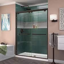 frameless bypass sliding shower door