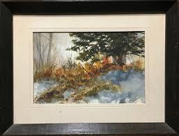 MYKE MORTON - Signed Watercolour - Winter Landscape (1976) - $250.00 |  PicClick