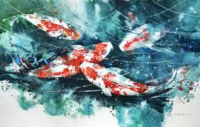 watercolor fish paintings koi fish watercolor painting demo crafthubs