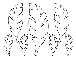Small Picture Palm leaf pattern Use the printable outline for crafts creating