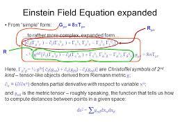 einstein field equation expanded