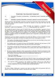 It is one of your company's most important. Free Printable Shareholder Newassumption Agreement Form Generic
