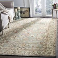 Safavieh Handmade Antiquity Blue-grey/ Beige Wool Rug (8'3